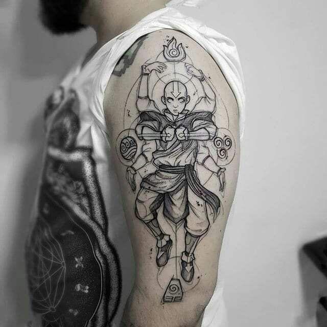 Aang tattoo, Avatar: the last air bender