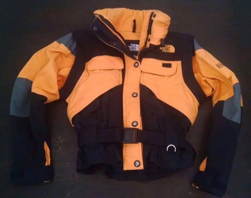 North Face Steep Tech Extreme Ski Coat Womens 4 S Yellow Black Hidden Hood Belt Mantel Frauen The North Face [ 790 x 1000 Pixel ]