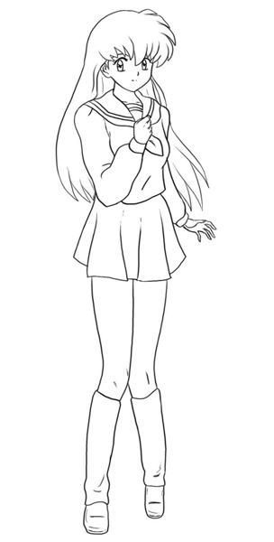 Inuyasha The Final Act Coloring Pages Inuyasha Pinterest Anime School Girl Coloring Pages For Girls Sailor Moon Coloring Pages