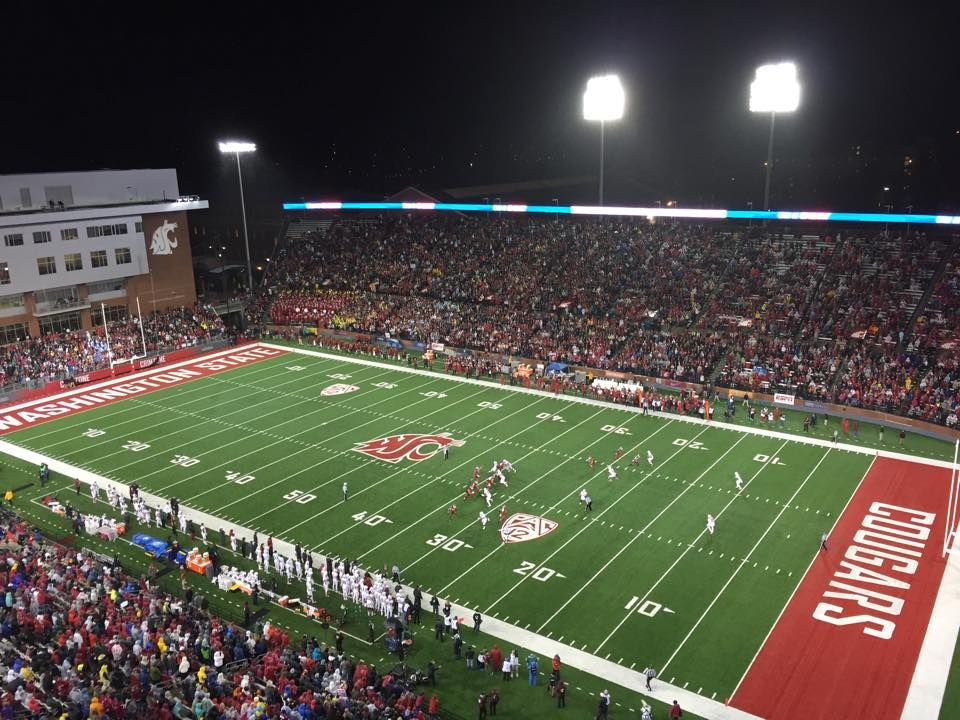 The Stadium Was Packed For The Wsu Vs Stanford Game Gocougs