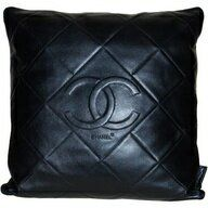 Chanel Leather Cushion Leather Pillow Leather Throw Pillows