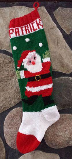 Vintage Knitted Christmas Stocking Juggling Santa   Pinterest ...