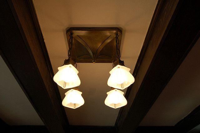 Greg S Bungalow Original Living Room Light Fixture From 1915 Living Room Light Fixtures Living Room Lighting Craftsman Decor