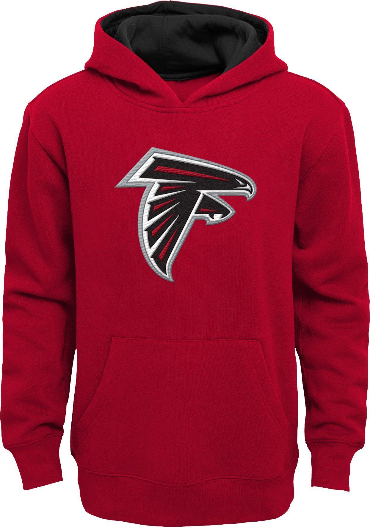 Team Apparel Youth Atlanta Prime Red Pullover Hoodie Atlanta Falcons Red Hoodie Hoodies