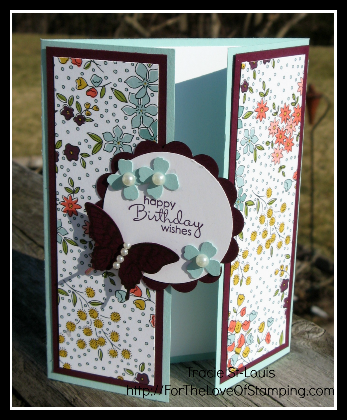 I Made This Card For A Customer S Card Class I Held Yesterday It Is A Gate Fold Card I Love Differe Gatefold Cards Handmade Birthday Cards Birthday Cards Diy
