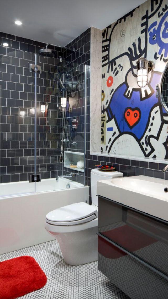 Teen Bathroom Subway Graffiti Future Segovia Bathroom Pinterest