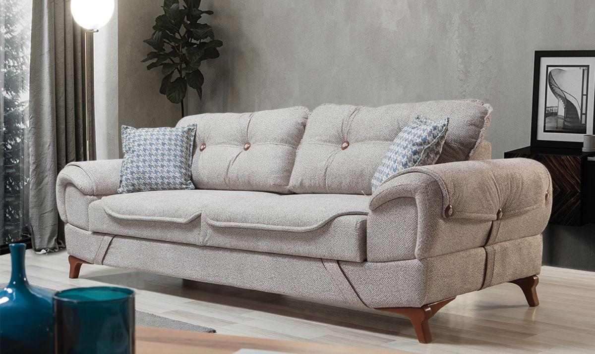 Carmen Yatakli Sandikli Koltuk Takimi Furniture Love Seat Leather Furniture