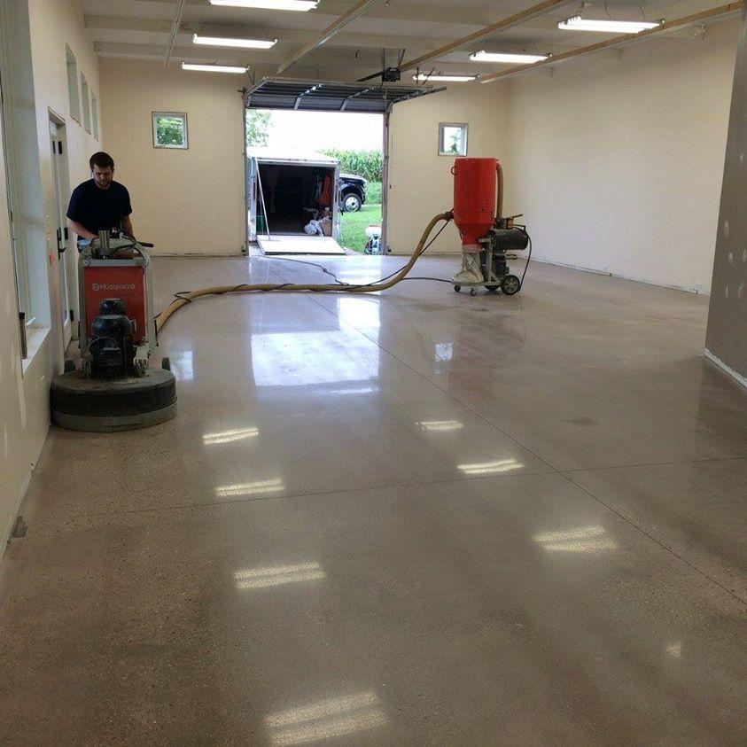 Polished concrete ithaca ny polished concrete kalamazoo for Great garage floors