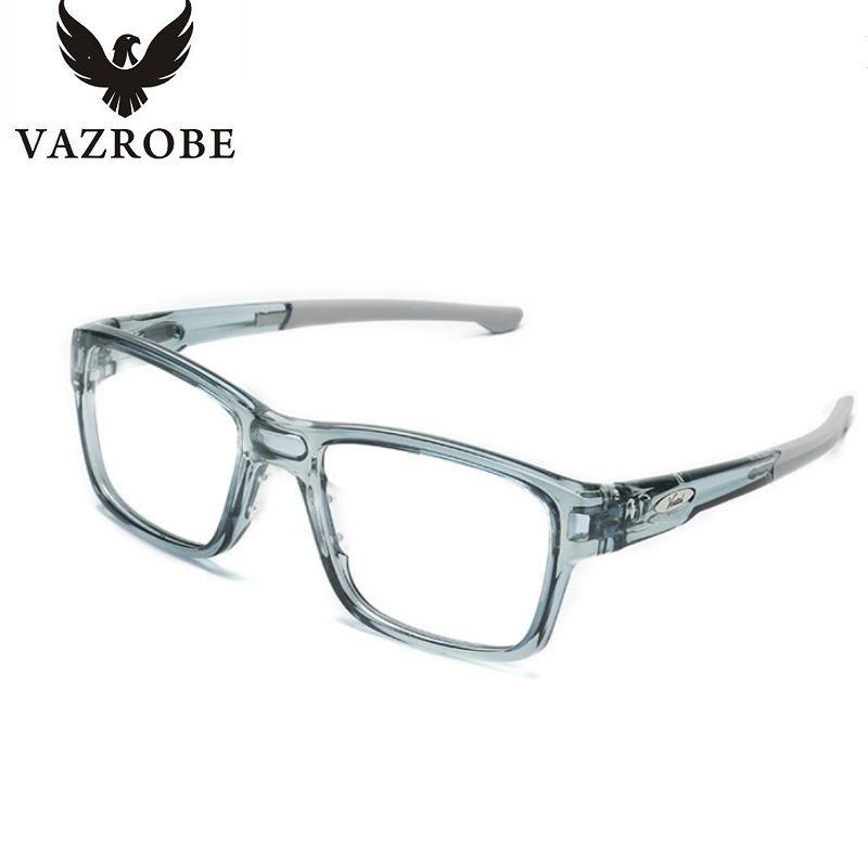 vazrobe fashion transparent eye glasses frame men women oversized eyeglasses frame wide square eyeglass frames with - Wide Eyeglass Frames