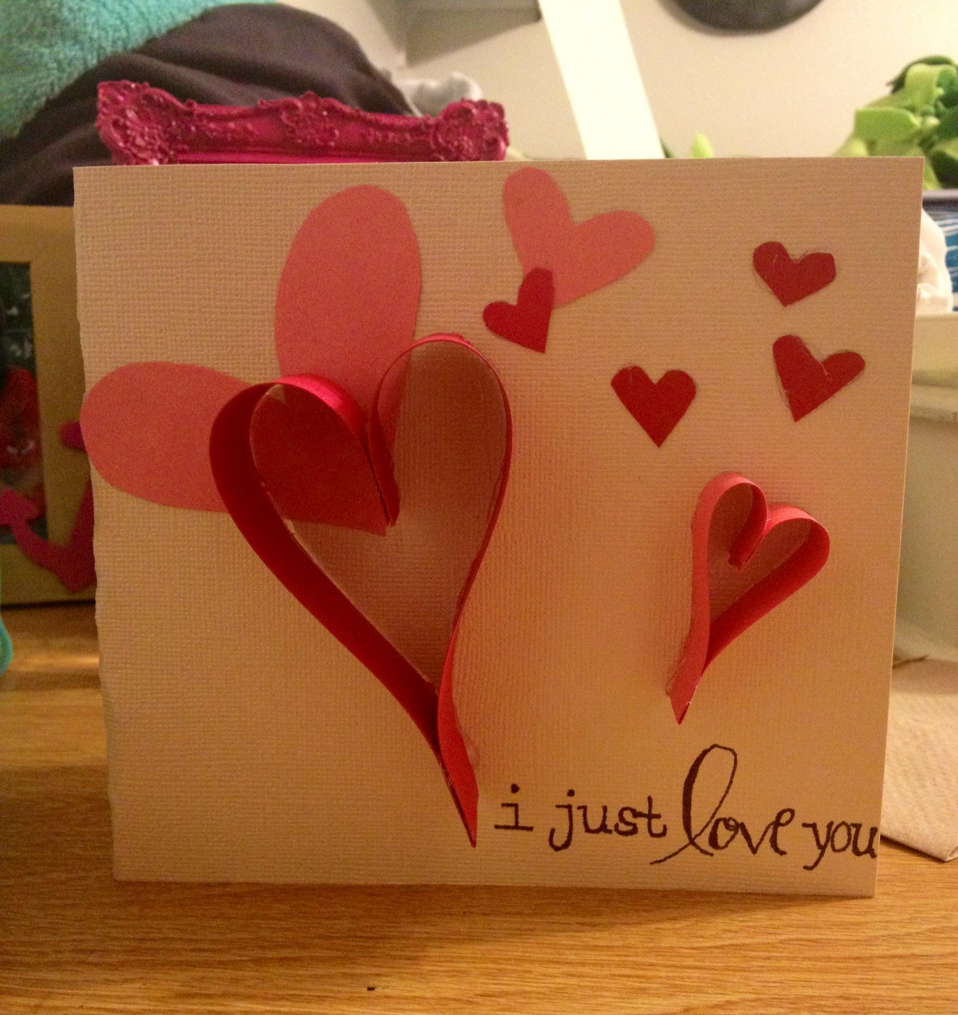 Homemade valentines day card