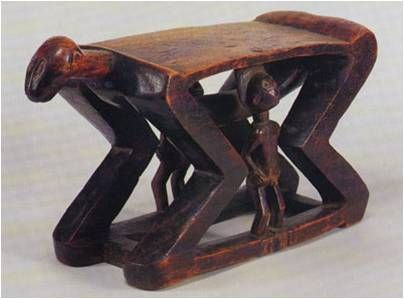 Chokwe headrest , Angola.