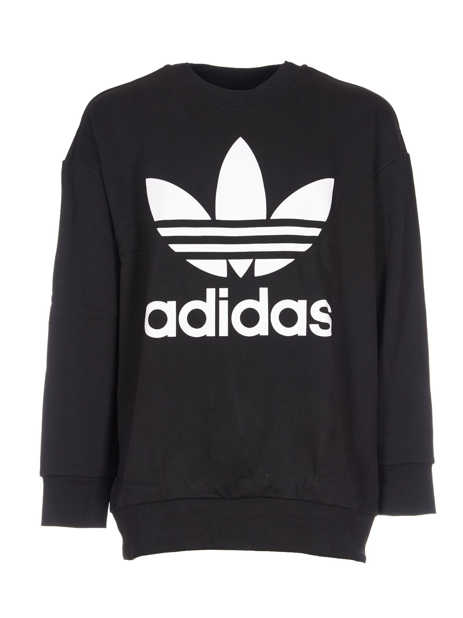 adidas fashion white oversized pullover hoodie