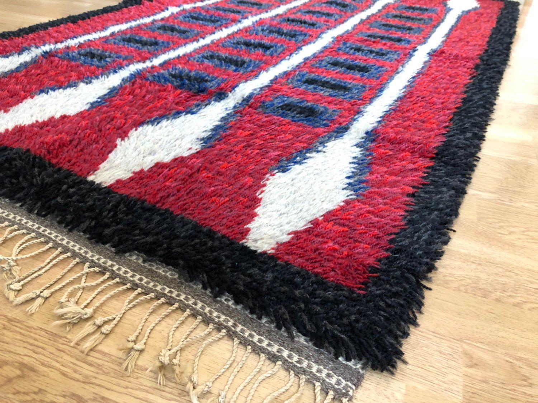 Danish Modern Rug Vintage Wool Rya Rug Scandinavian Rug Mid Century Modern In 2020 Scandinavian Rug Modern Rugs Rya Rug