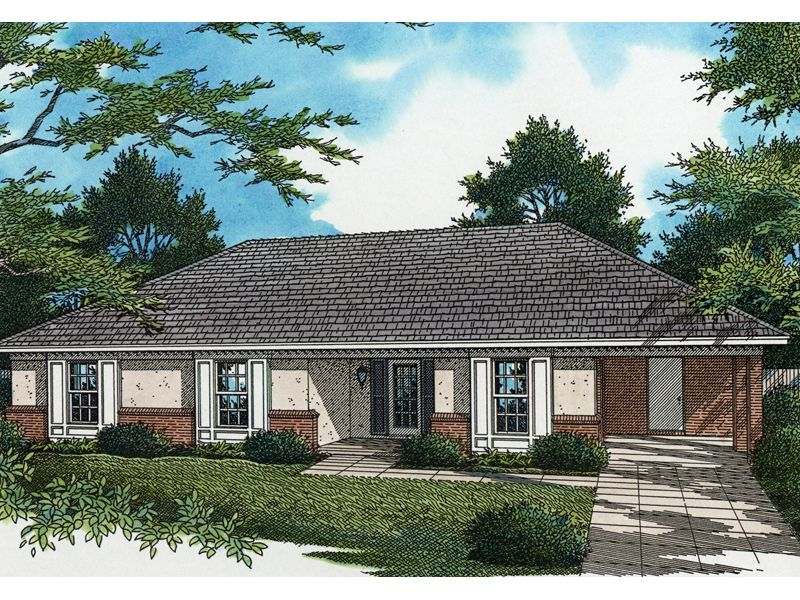 Brick And Stucco Ranch With Carport | House Plans | House ... on hip roof small house plans, high ranch house plans, room addition shed roof plans, expanded ranch house plans, amazing ranch house plans, cathedral ceiling ranch house plans, single level ranch house plans, best ranch house plans, california ranch house plans, square ranch house plans, a-frame ranch house plans, dutch hip roof house plans, 4 bedroom rectangle house plans, brick ranch house plans, high pitch roof house plans, h-shaped ranch house plans, hip floor plans, hip roof beach house plans, hip with gable dormer, 3 stall garage house plans,
