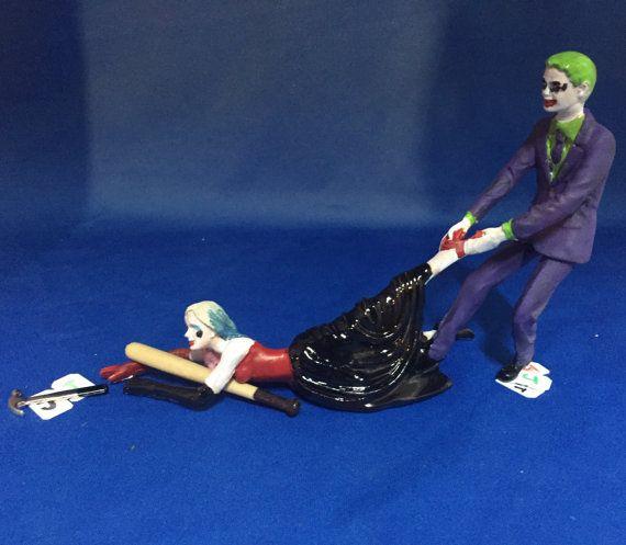 The Joker And Harley Quinn Wedding Cake Topper By Ineedcake