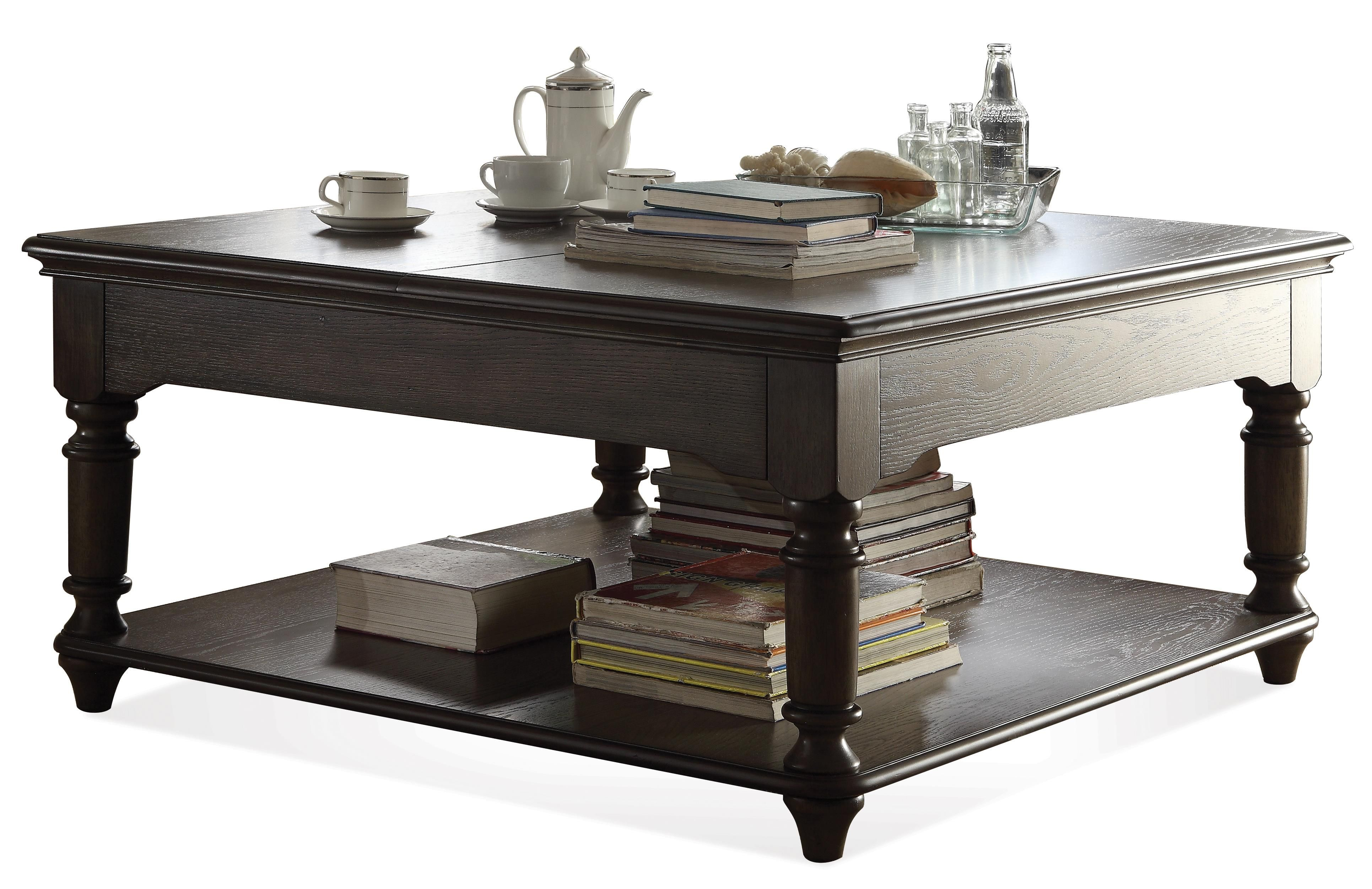 Beau Belmeade Square Lift Top Coffee Table By Riverside Furniture