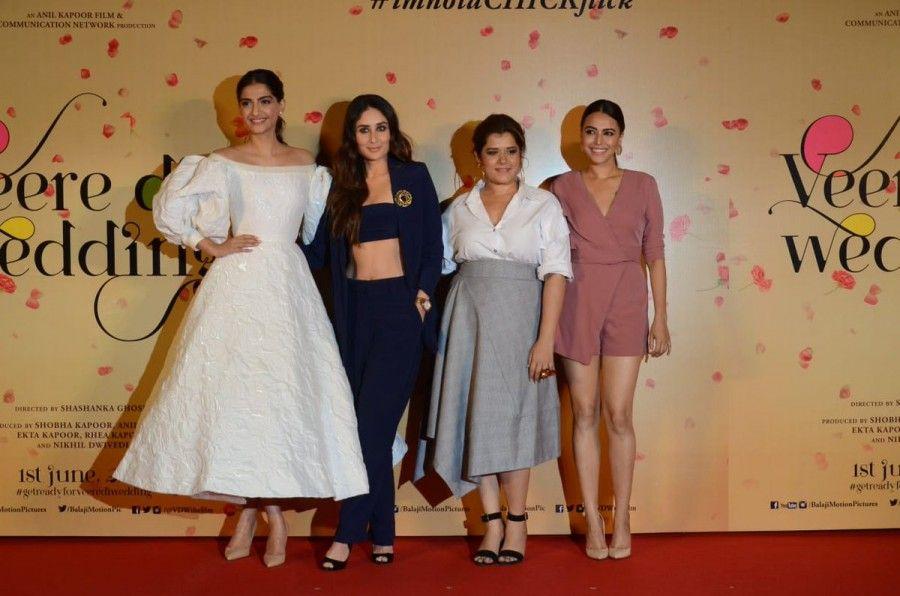 Veere Di Wedding Trailer.Bollywood Movie Veere Di Wedding Trailer Launch Event Held In Mumbai