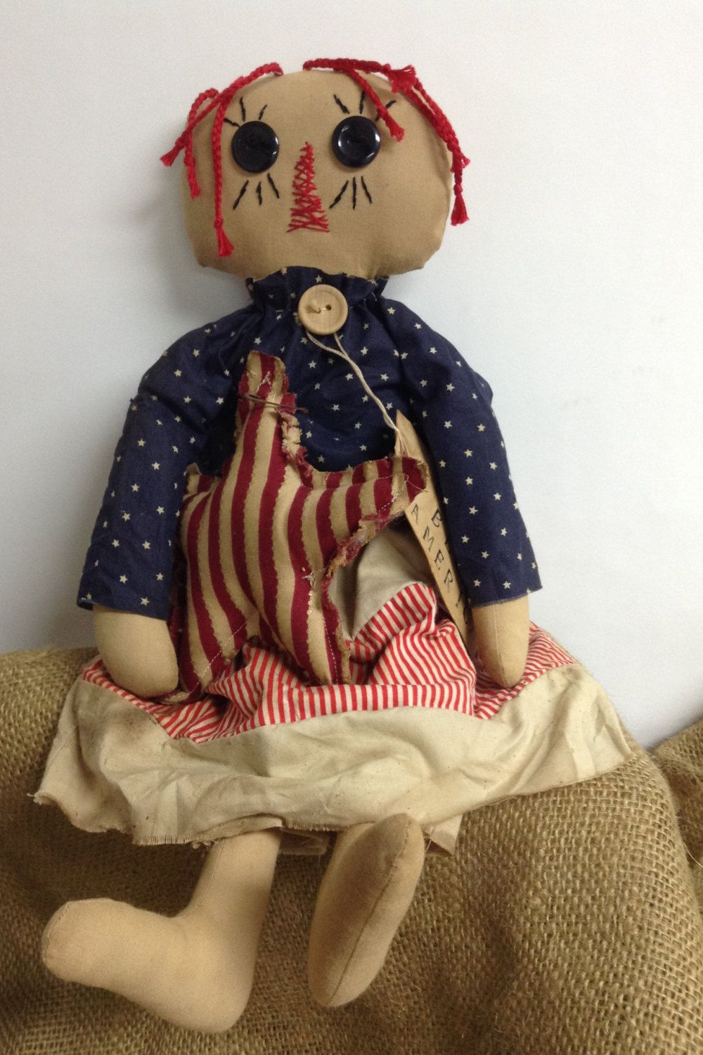 Patriotic Annie by PinkHenStudio on Etsy