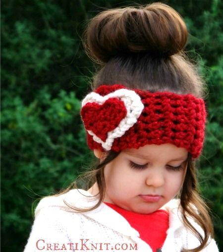 The Cupid Head Warmer Free Knitting Pattern Crochet Kids Hats