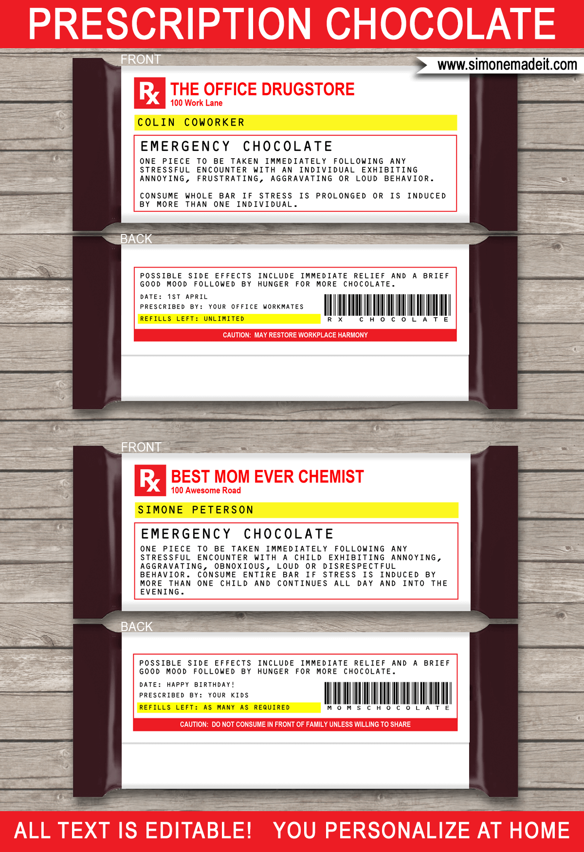 Prescription Label Template Microsoft Word - printable