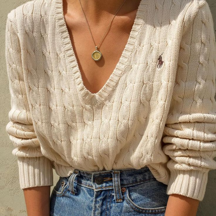 """Goodshop Badshop on Instagram: """"SOLD Vintage cream Polo Ralph Lauren 100% cotton deep v-neck cable knit sweater, best fits xs-m (relaxed-fitted). DM or comment for…"""""""