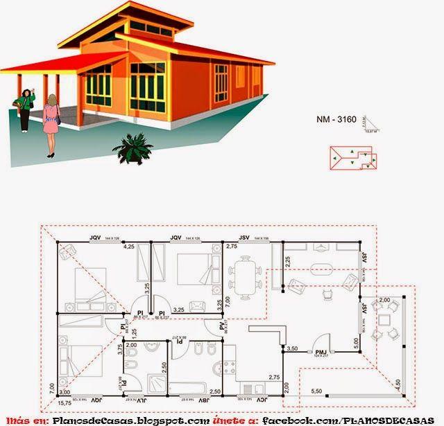 Planos de casas prefabricadas arquitectura pinterest for Planos casas prefabricadas