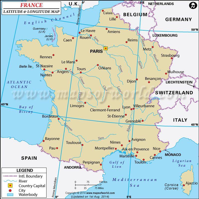 France latitude and longitude map latitude longitude maps france latitude and longitude map gumiabroncs Images