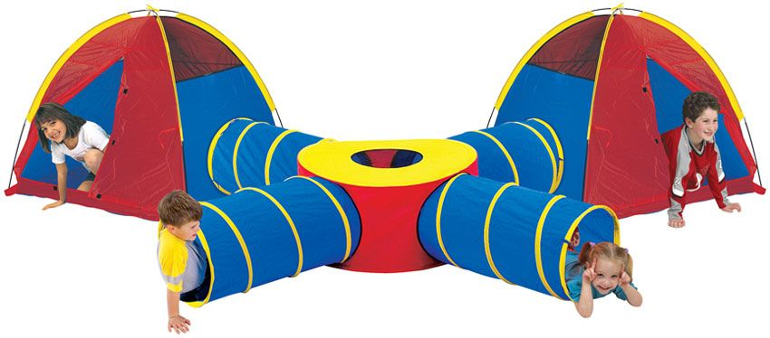 Extra Large Pop Up Tunnel and Tent Play System for Children Kids Boys Girls  sc 1 st  Pinterest : pop up tent play - memphite.com