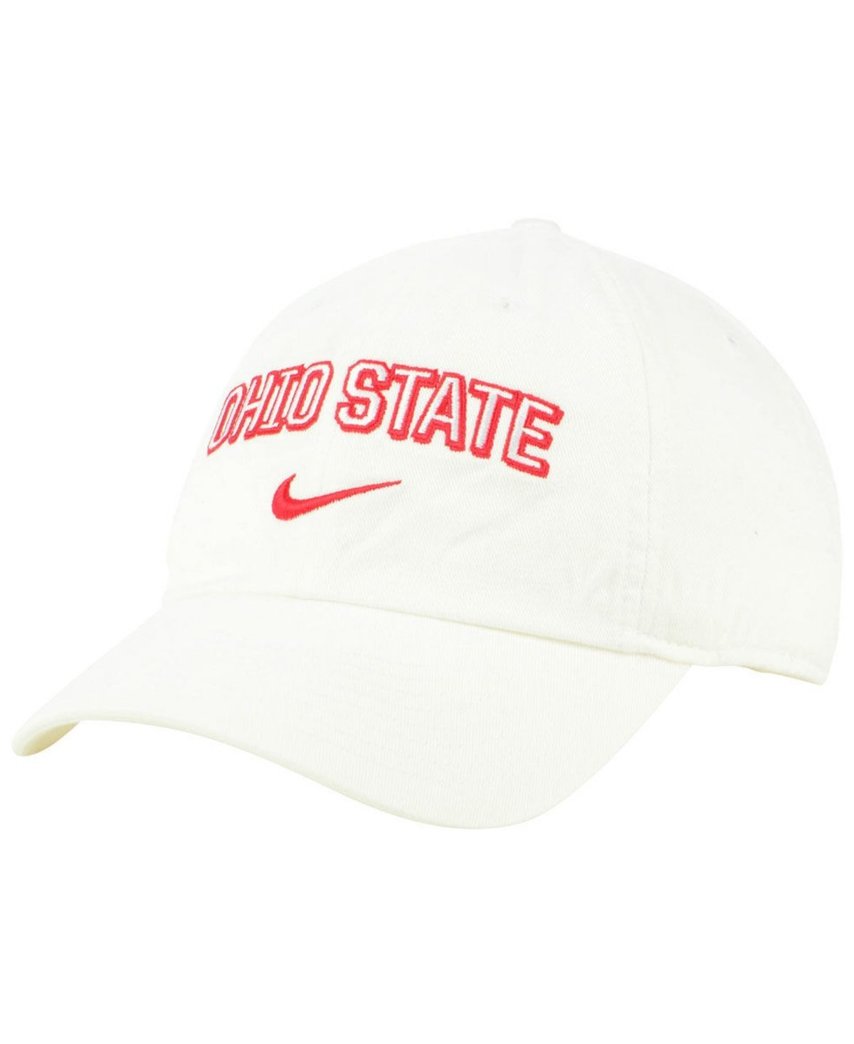 Ohio State Buckeyes H86 Wordmark Swoosh Cap #ohiostatebuckeyes Nike Ohio State Buckeyes H86 Wordmark Swoosh Cap - White #ohiostatebuckeyes