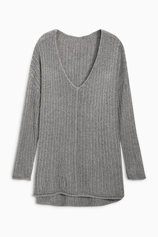 Buy Grey Knitted Jumper from the Next UK online shop