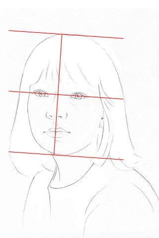 Our pencil portrait lesson explains and illustrates the step by step drawing techniques for a realistic portrait of a young girl