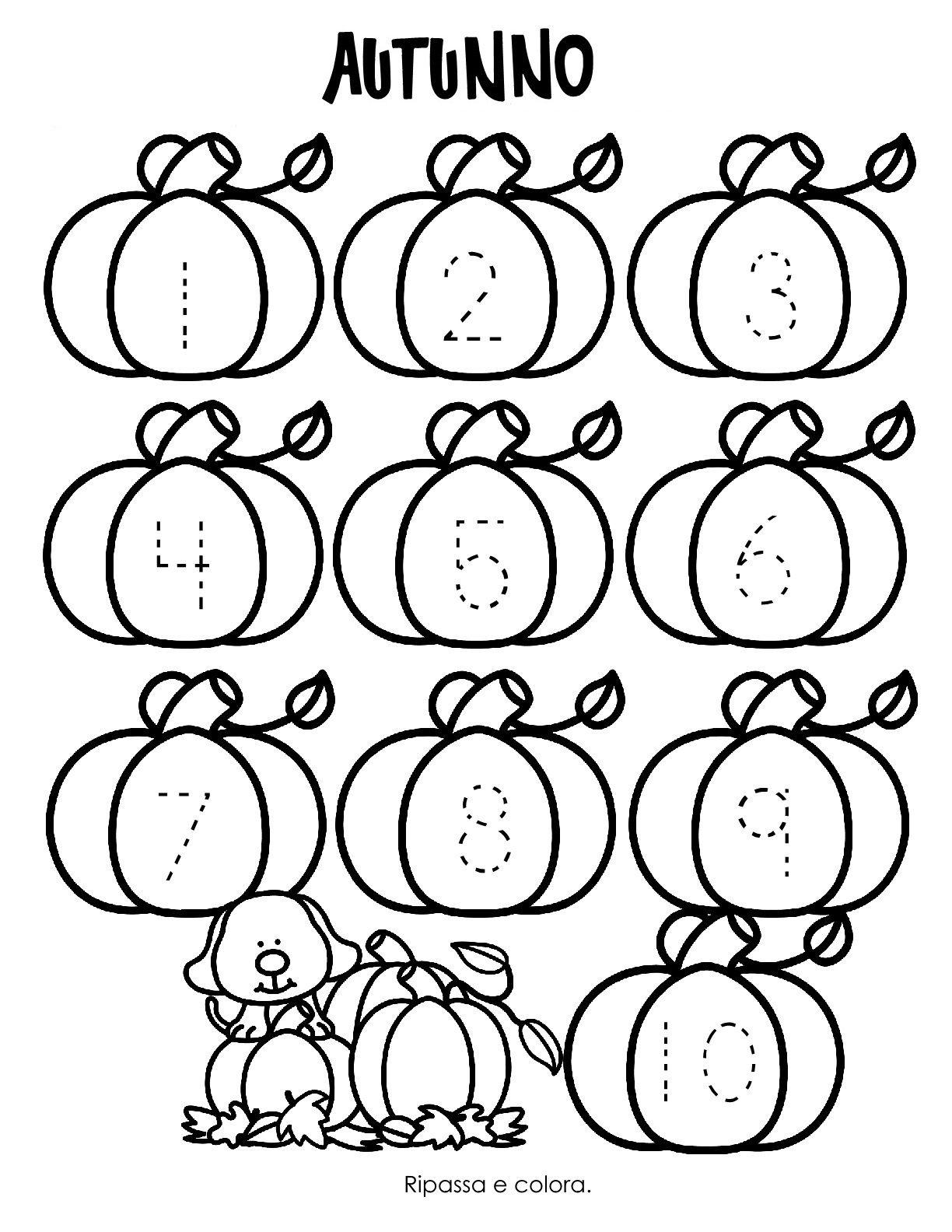 Blog scuola schede didattiche scuola dell 39 infanzia la - Colore per numeri per i bambini ...