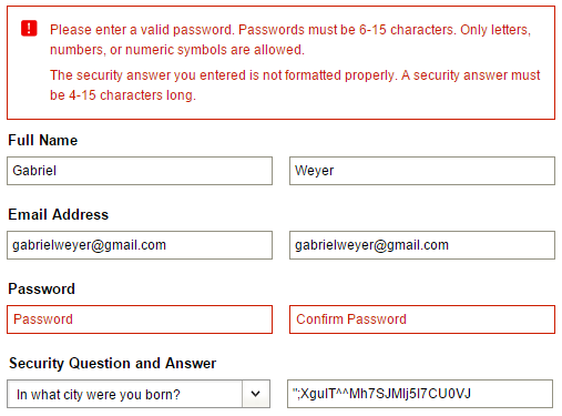 Security answer too strong. (With images) | Password security, Passwords, This or that questions