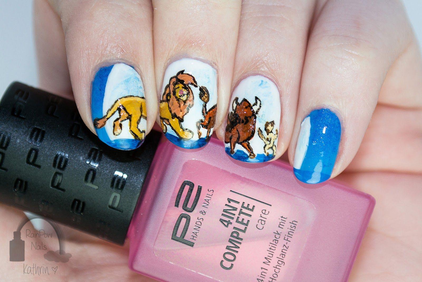 Rainpow Nails Disney Week Der König Der Löwen Disney Nails