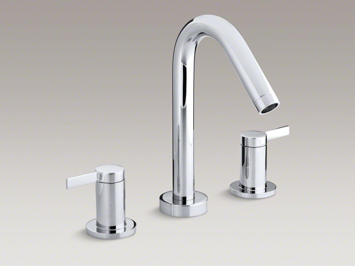 Stillness Deck Mount Bath Faucet Trim For High Flow Valve With