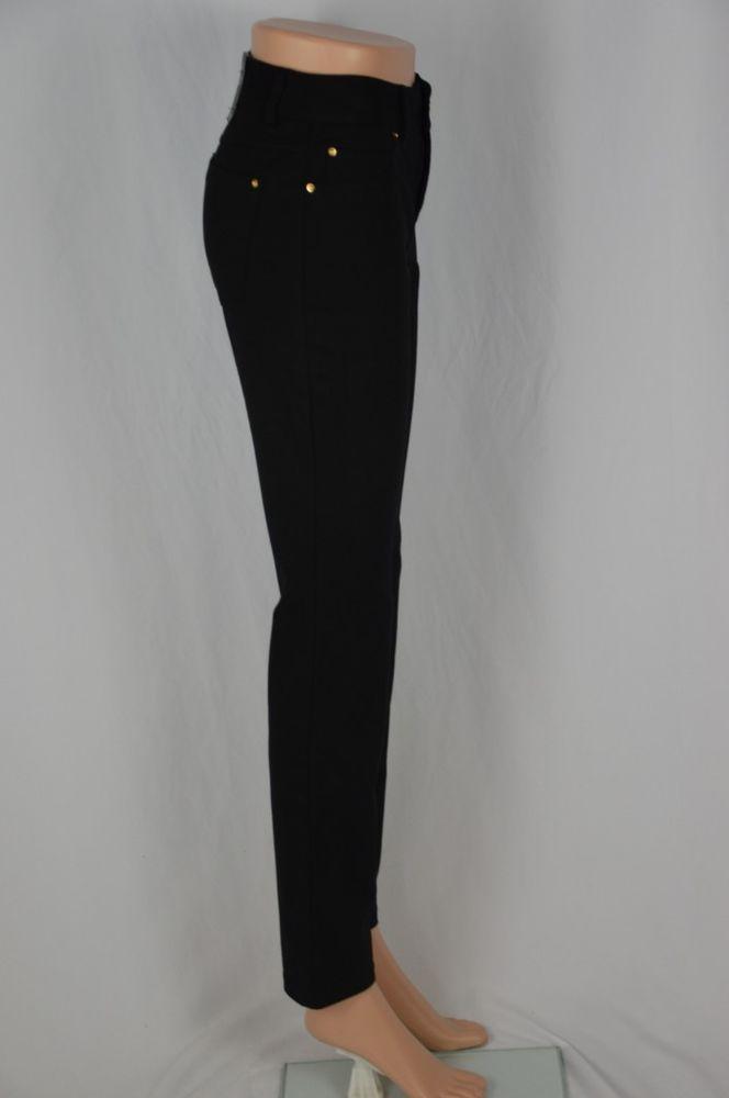 Inc Womens 0 Skinny Leg Curvy Fit New Black Dress Pants Solid Color