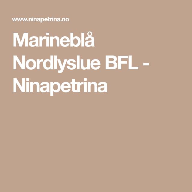Marineblå Nordlyslue BFL - Ninapetrina