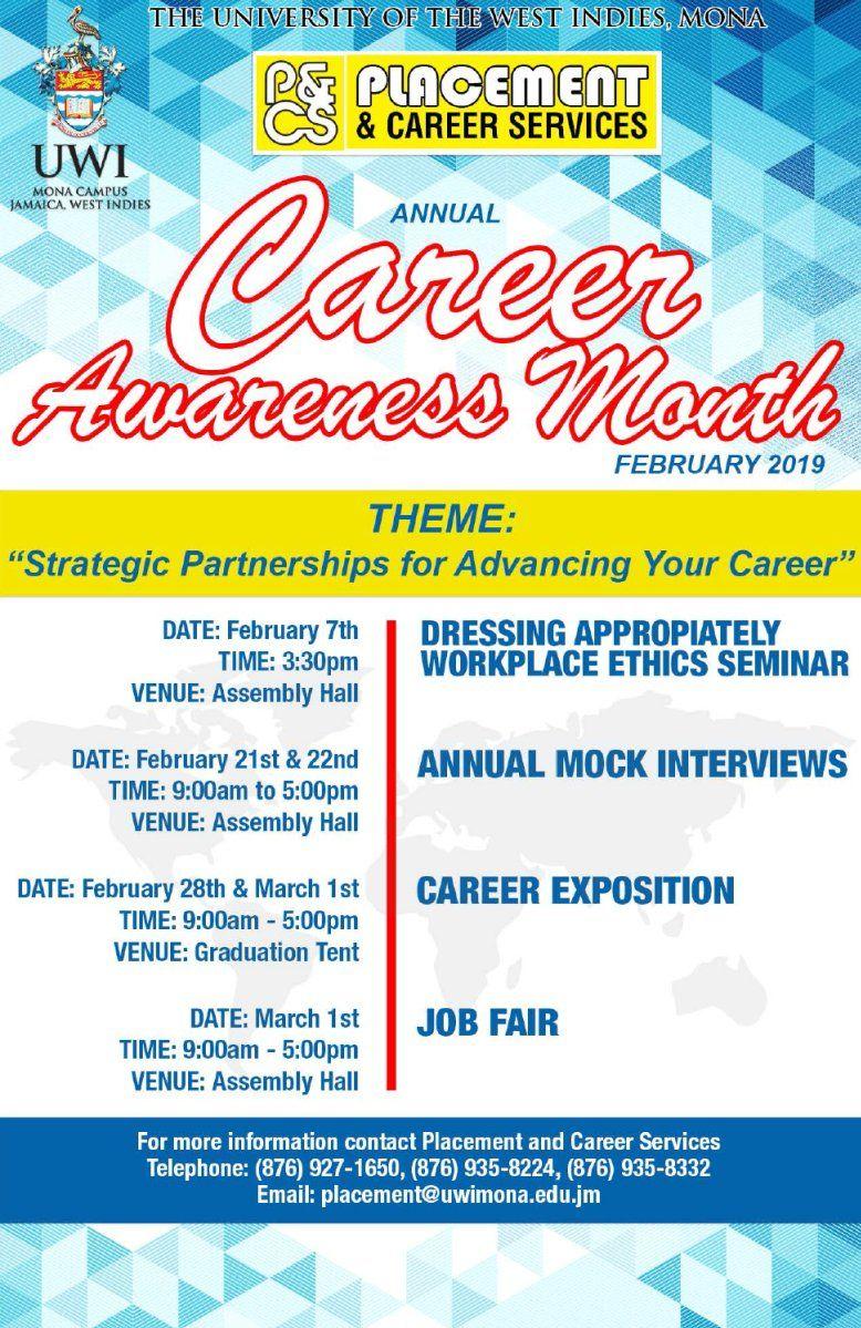 Annual Career Awareness Month February 2019! UWI
