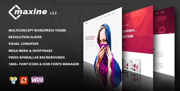 Maxine – Multi Concept WordPress Theme | Pinterest