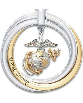 The Bradford Exchange Marine Corps Pendant Necklace With Engraved ...