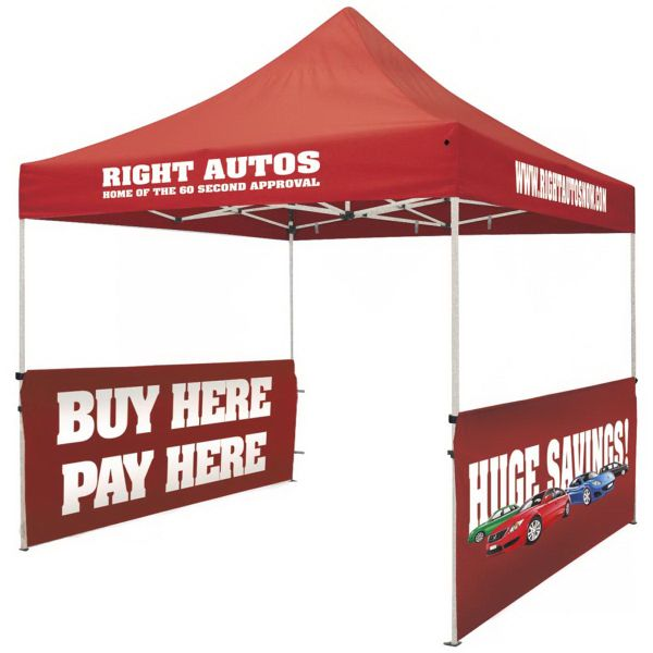 Includes two half walls. Great for all outdoor events. Entire tent is available for imprinting.  sc 1 st  Pinterest & Promotional Tent Wall Kits | trade show | promotional planning ...