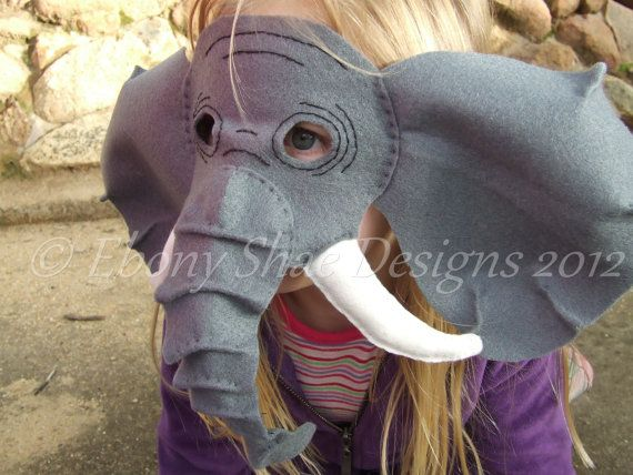Elephant Mask PATTERN- kids elephant costume sewing pattern. & Elephant Mask PATTERN- kids elephant costume sewing pattern ...