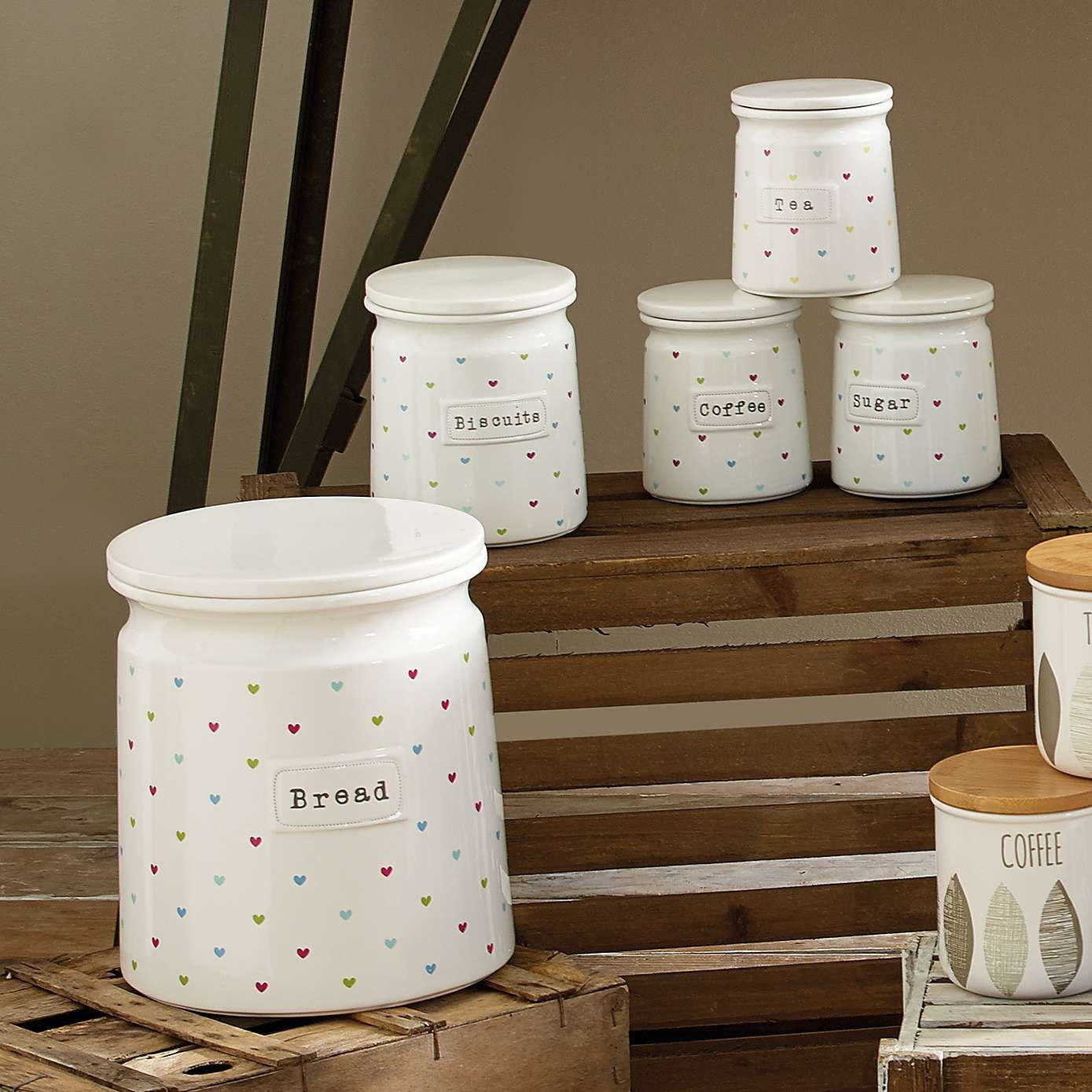 Sweethearts Canister Collection Dunelm Sweethearts Canister