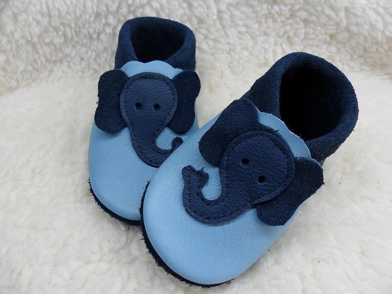 krabbelschuhe b i o leder elefant emil n hen f r babys. Black Bedroom Furniture Sets. Home Design Ideas