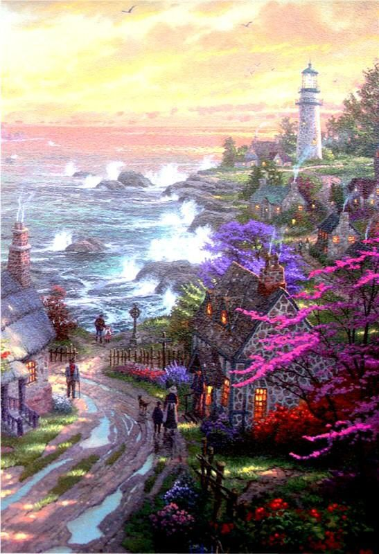 Lighthouse Pictures Thomas Kinkade | Click to see large picture