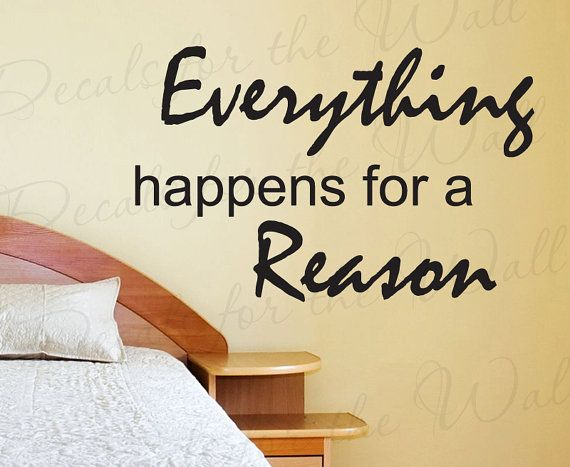 Everything Happens Reason Inspirational by DecalsForTheWall, $27.97 ...