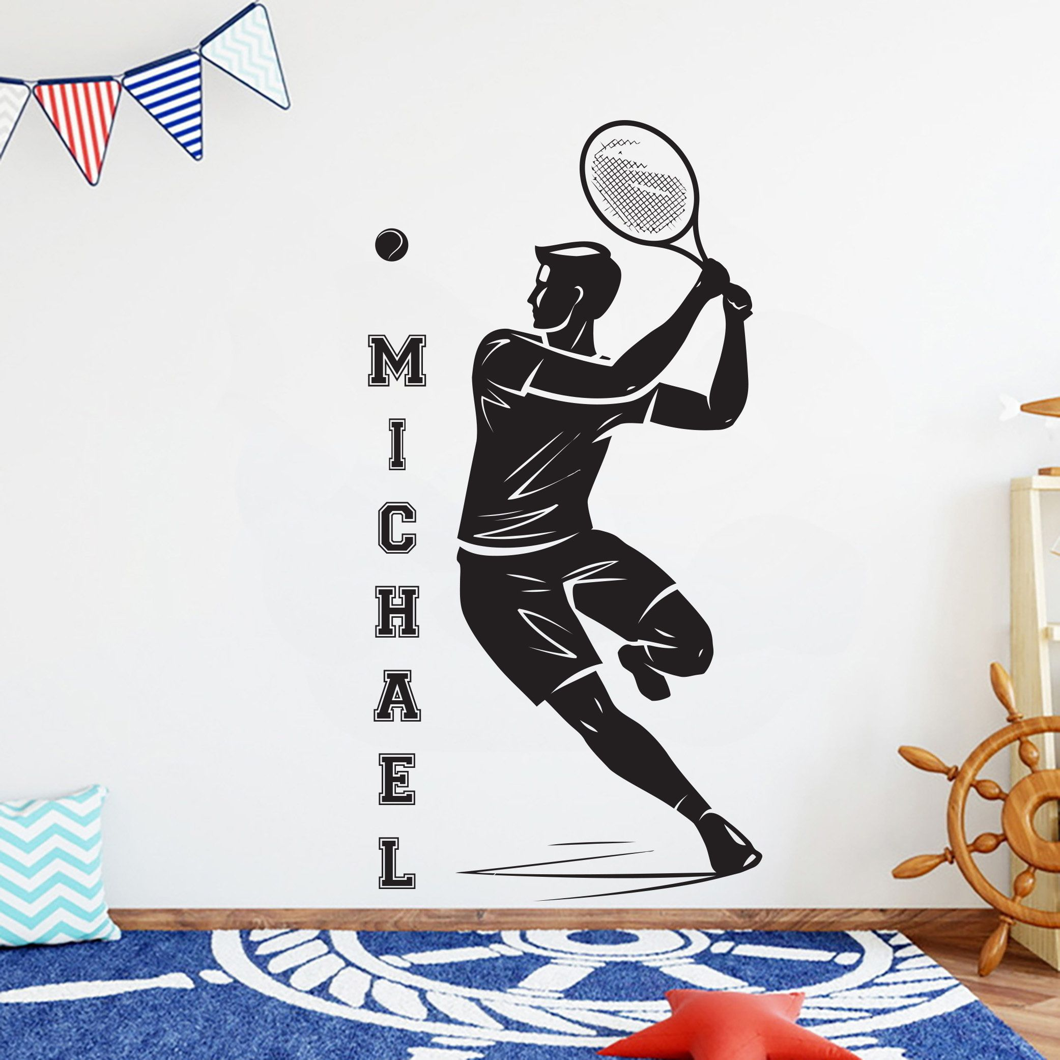 Pin On Tennis Wall Decal