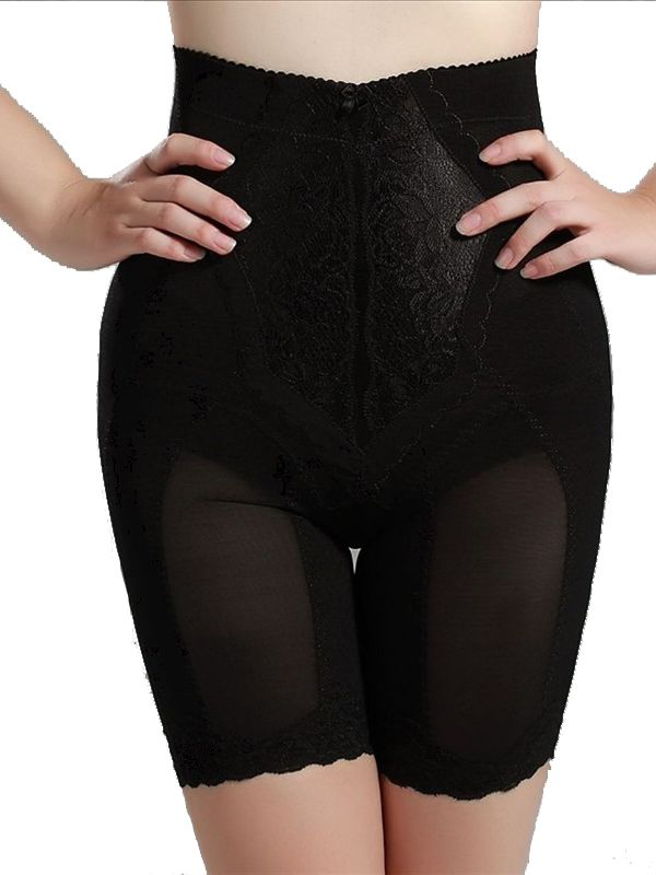 f26ec33591 Burvogue Slimming High Waist Control Pants Women Lace Leg Body Shaper