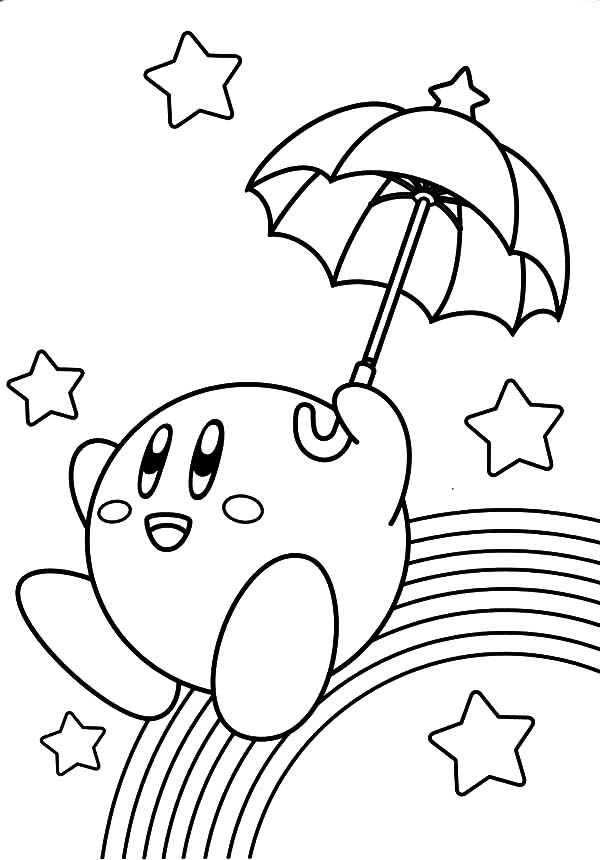 Kirby Slide Over Rainbow Coloring Pages Kids Play Color Sailor Moon Coloring Pages Cartoon Coloring Pages Moon Coloring Pages