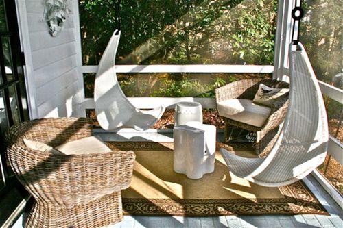 Muebles de jard n con efecto relax hamacas columpios for Mecedoras para jardin